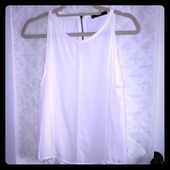 Mango Tops - White flow tank with decorative back